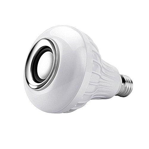 E27 / E26 Mittlerer Standard-Basis-LED-Licht Smart Wireless Bluetooth Audio 12 Watt Gleichwertige 115 Watt Halogenlampe RGB Glühlampe LED-Lampe Musik-Player mit Fernbedienung LED Glühbirnen Schraube - E26 Standard Schraube Basis