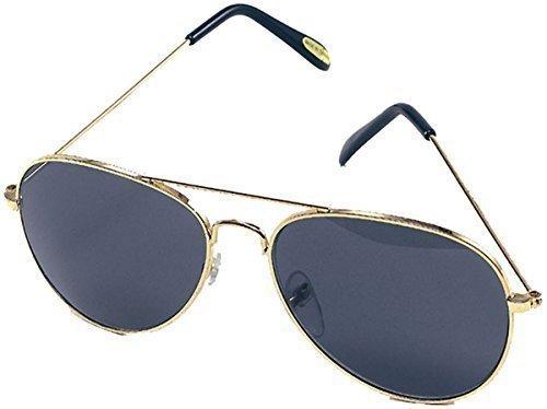 1970er Jahre Ausgefallen Party Goldrahmen Blau Schirm Top Gun Elvis Aviator Biker Brillen (Jahre 1970er Top)