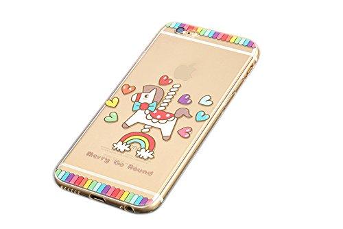 iPhone 6/6s Hülle,koala group® Mania Series Transparent Weiche Silikon Schutzhülle Ultradünnen Anti-stoß Kratzfeste TPU Case---NO21 No12