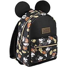 Karactermania Mickey Mouse True Mochila Tipo Casual, 27 cm, 7.5 litros, Negro