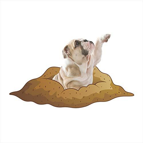 Katzen Hunde 3D Lebendige Sehen Dekorative Wandaufkleber Für Wc Bad Dekorationen Tiere PVC Hause Auto Dekor Wandbild Wand Kunst poster e1 20x30cm -