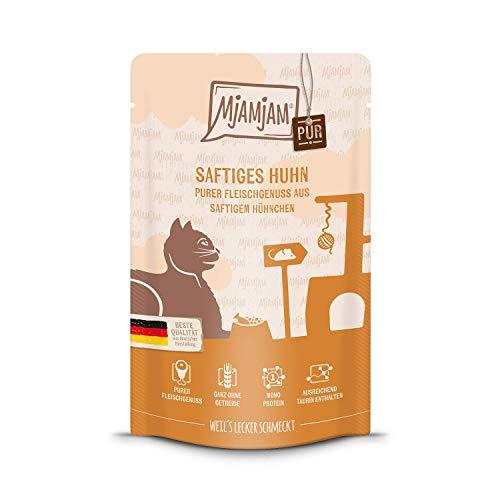 MjAMjAM - Premium Nassfutter für Katzen - Quetschie - purer Fleischgenuss - saftiges Hühnchen pur,...