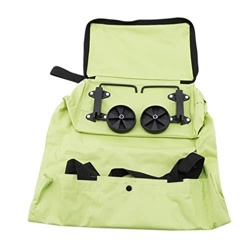 DeliverV Große Oxford tragbare und Faltbare Wiederverwendbare Einkaufstasche Einkaufstasche mit Rollen, Reisetasche für Frauen und Mädchen
