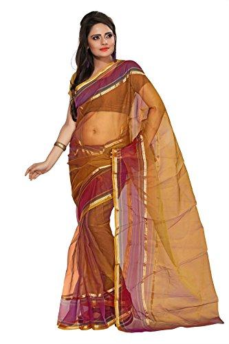 Florence Tissue Saree (FL-10032_Beige)