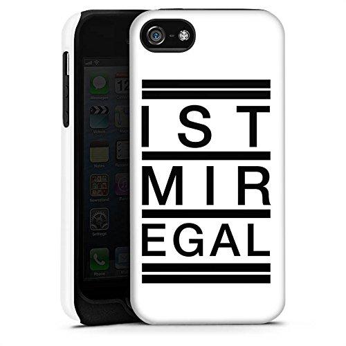 Apple iPhone X Silikon Hülle Case Schutzhülle Egal Trend Statement Tough Case matt