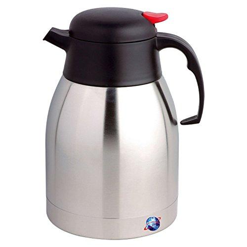 Isolierte Kaffee-spender (Denny International 2l Edelstahl Isolierflasche Hot & Cold Tee Kaffee Isolierte Spender Air Topf mit Sicherheit Push Button)