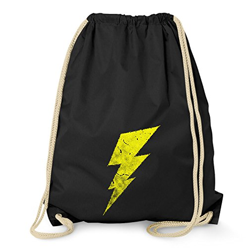 Flash - Turnbeutel, schwarz (The Big Bang Theory Superhelden Kostüme)