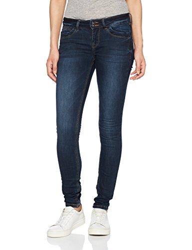 TOM TAILOR DENIM Damen Slim Jeans Blue Jona with Details, Blau (Dark Stone Wash Denim 1053), W31/L32 (Herstellergröße:31) (Denim Pant Detail)