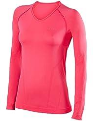 FALKE Ropa Interior cálida manga larga camiseta Comfort, mujer, Unterwäsche Warm Longsleeve Shirt Comfort, rosa, small