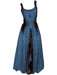 Dark Dreams Gothic Mittelalter LARP Kleid Samt bestickt Schnürung Guinerva