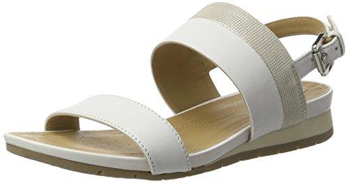 Geox Damen D Formosa C Slingback, Weiß (White/SILVERC0007), 41 EU