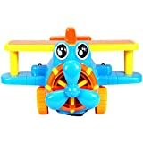 Planet of Toys Bump and Go 3D Lights-Music Cartoon Plane