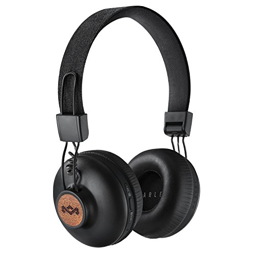 House of Marley Positive Vibration 2 Wireless - Bluetooth On-Ear Headphones, Noise Isolating, Premium Sound 50mm Drivers, Integrated Mic, USB Charging, Enhanced 10hrs Battery Life - Signature Black Best Price and Cheapest