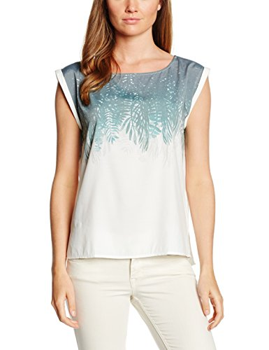 Mustang Palm Leaf Blouse, Blouse Coupe Large Femme Blanc - Blanc (200)