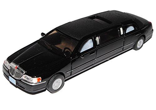 Lincoln Town Car Stretch Limousine Schwarz ca 1/43 1/36-1/46 Modellcarsonline Modell Auto mit individiuellem Wunschkennzeichen
