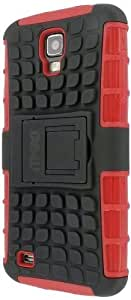 MPERO Collection Tough Rugged Kickstand Noir and Red Case Cover Shell Étui Coque for Samsung Galaxy S4 Active