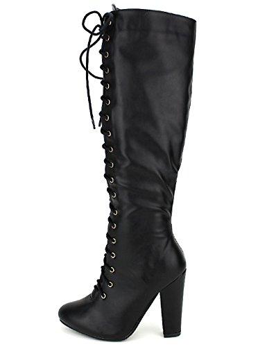 Cendriyon Bottes Noires Simili Cuir C'M Chaussures Femme