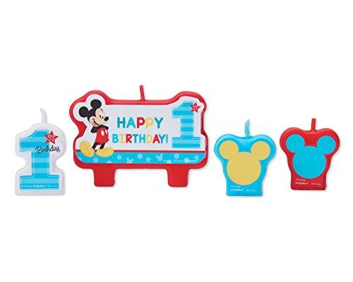 Amscan International 171833 - Juego de Velas de cumpleaños con diseño de Mickey Fun
