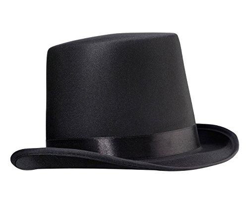Nero mini cappello a cilindro in feltro