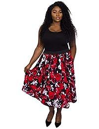 1337078f8b7 Scarlett   Jo Sofia Rose Print Full Skirt Sizes 10-32
