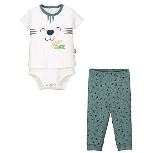 e9fad1537ad2a Petit Béguin - Ensemble bébé garçon body T-shirt + pantalon Baby Jungle -  Couleurs