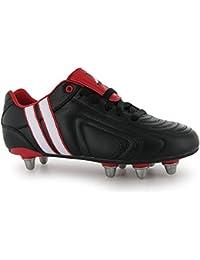 Patrick - Zapatillas de rugby para niño negro negro/blanco