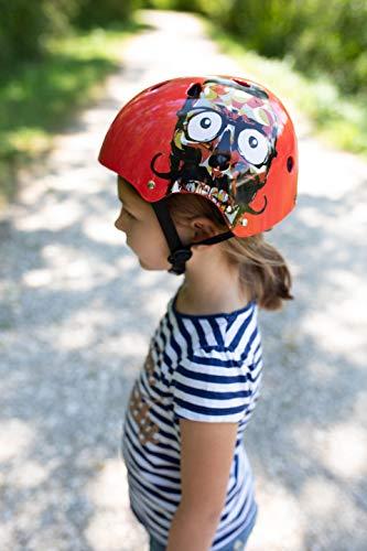 Skullcap® BMX Helm ☢ Skaterhelm ☢ Fahrradhelm ☢, Herren | Damen | Jungs & Kinderhelm, schwarz matt & glänzend (Red Ocean, S (51 – 54 cm)) - 3