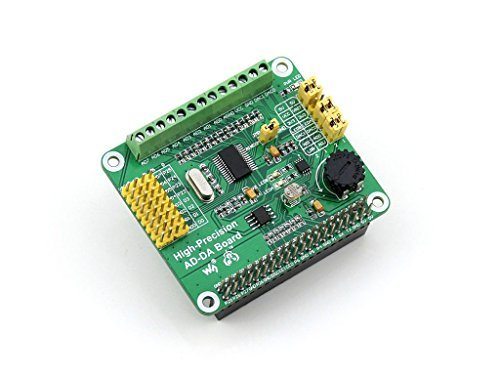 Input - / Output-modul (Raspberry Pi AD/DA Expansion Sheild Board for Adding High-Precision AD/DA Functions to Raspberry Pi Onboard ADS1256 DAC8552 Sensor Input/output Interface)