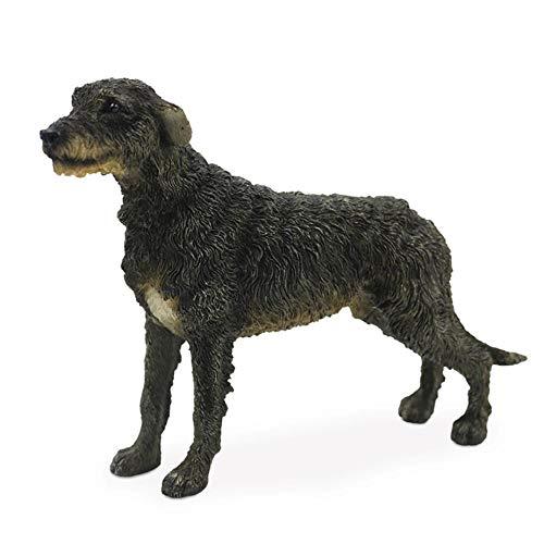 KOONNG Statue Dekoration Irish Wolfhound Simulation Hund Modellauto Dekoration Kunsthandwerk Sammlung -