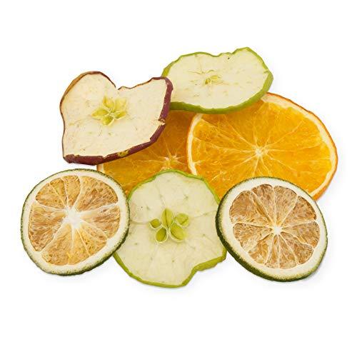 itenga Deko Früchte Mix getrockente Orangen Limetten Äpfel als Basis Bastelmaterial und für Deko 40g Beutel als Deko - Material