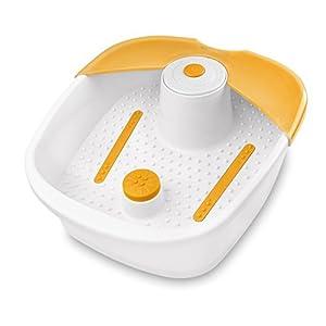 Medisana FS 881 Fußsprudelbad mit Fußreflexzonenmassage, elektrisches Fußbad, Wärmefunktion, Vibrationsmassage, Fußbad mit Massage und Heizung, für eine angenehme Fußmassage