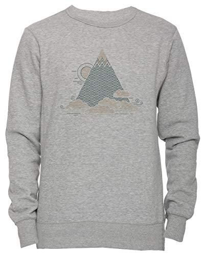 Wolke Berg Unisex Herren Damen Jumper Sweatshirt Pullover Grau Größe L Men's Women's Grey Large...
