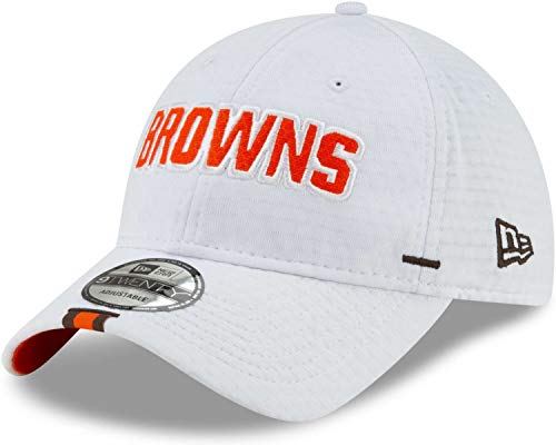 New Era - NFL Cleveland Browns On Field 2019 Training 9Twenty Cap - Weiß Größe One Size (Browns Cleveland Baseball-cap)