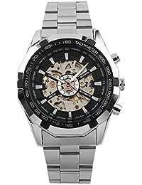 b5025b5e5363 P.I.Sport N.Y. Reloj Esqueleto para Hombres Reloj de Pulsera Reloj mecánico  Automático de Cuerda automática