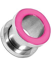 tumundo 1 Pieza Túnel Tunnel Plug Piercing Dilatador Enchufe Tapón Dilataciones Acero Inox Pendientes Expansor Rosa