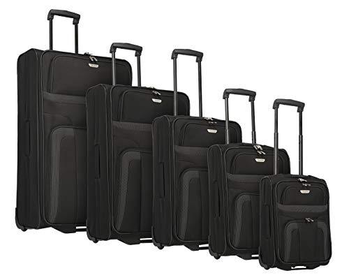 Travelite ORLANDO Koffer, Koffer Set XL 2-Rad (XL/L/M/S/XS), Schwarz