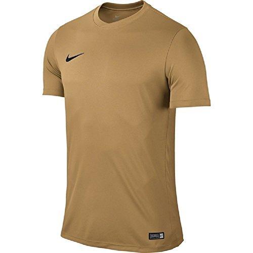 Nike Park VI, Camiseta de Manga Corta para hombre, Dorado (Jersey Gold/Black), L