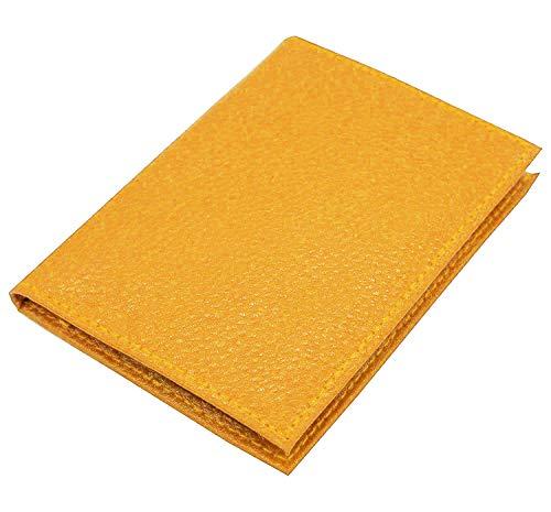 Cartera amarilla portatarjetas y billetera