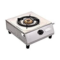 Luxmi Star Shine Super Stainless Steel 1 Burner Gas Stoves. (One Burner).