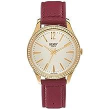 Henry London Unisex-Armbanduhr Holborn Analog Quarz Leder HL39-SS-0068 (Zertifiziert und Generalüberholt)