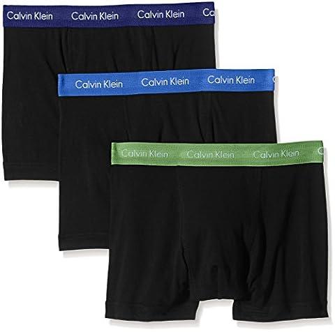Calvin Klein Herren Boxershorts Cotton Stretch-3-Pack Trunk 3 Blau (B-Dream Blue/Nanday Green/Ori Yyn), Medium