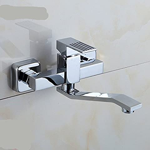 UHM Hot Sale Montage mural en laiton chromé HotCold BathroomToilet l