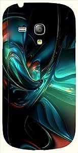 Beautiful multicolor printed protective REBEL mobile back cover for S3 Mini / Samsung I8190 Galaxy S III mini D.No.N-L-17938-S3M