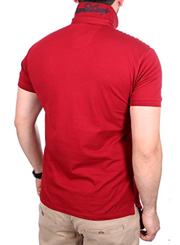 Reslad Poloshirt Herren Slim Fit Polo-Hemd Polo-Kragen Kurzarm-Shirt RS-5200 Bordeaux