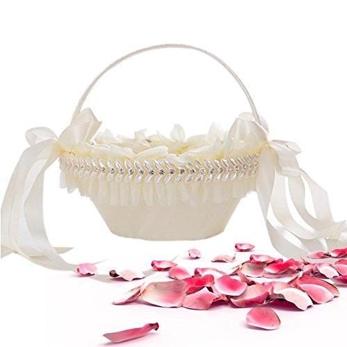 Hochzeit Blumenkorb Weiß Korb Hochzeit Deko Hochzeit Bambus Blumenkorb Geflochten Hochzeits Blumen...