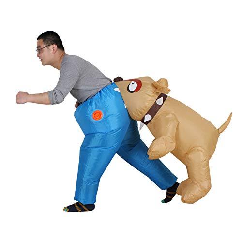 Selbstaufblasbares Unisex Kostüm Hund | Batteriebetrieben | Cosplay für Audlts