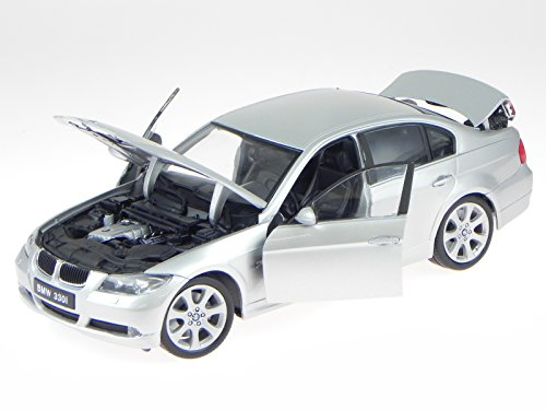 Preisvergleich Produktbild BMW e90 3er Reihe 330i silber Modellauto 12561 Welly 1:18