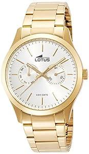Lotus Reloj Analógico para Hombre de Cuarzo con Correa en Acero Inoxidable 15955/1