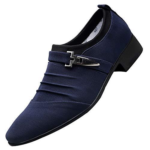 Zapatos De Vestir Gamuza Zapatos Nauticos Barco Marrones para Hombres Mocasines Cómodos Hombre Adecuado...