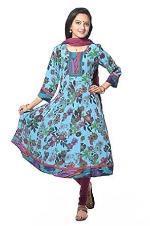 Vastra Vinod Womens Cotton Blue Xxxx-Large Kurta